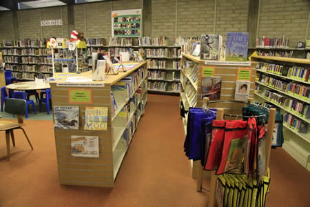 shelving in children's area