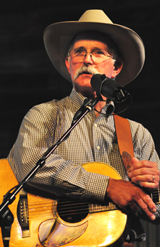 Dave Stamey with his guitar